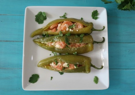 Shrimp Stuffed Anaheim Peppers