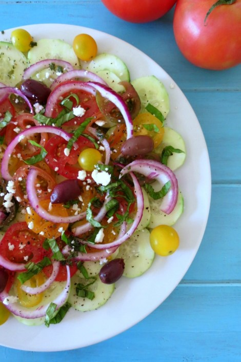 Cucumber and Tomato Summer Salad