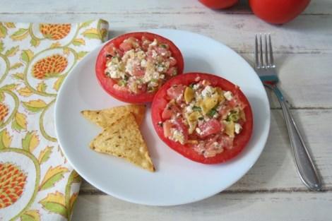 Feta Stuffed Tomato