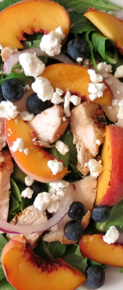 Blueberry Peach Chicken Salad