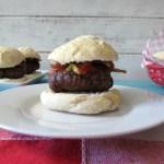 Bacon Burger Sliders on Homemade Rolls #SundaySupper