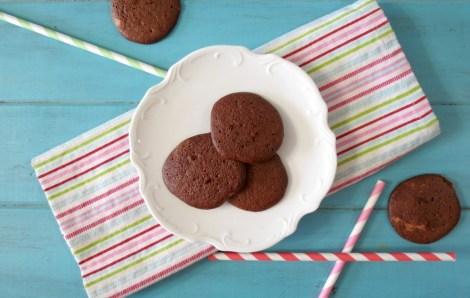 Chocolate and Caramel Meringue Cookies