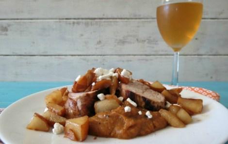 Pork Tenderloin with Sauteed Pears and Sweet Potatoes