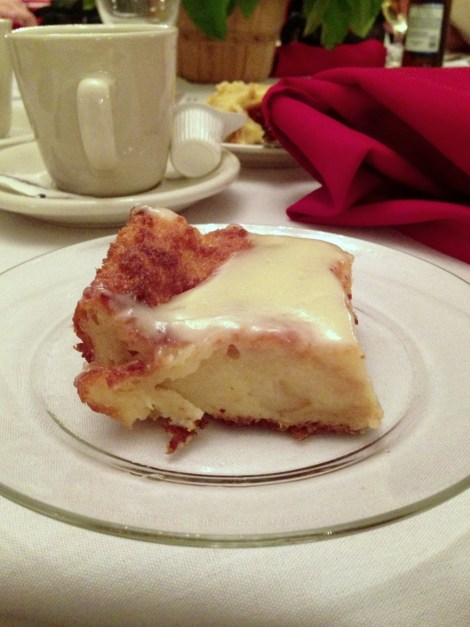 White Chocolate Bread Pudding with Whisky Sauce