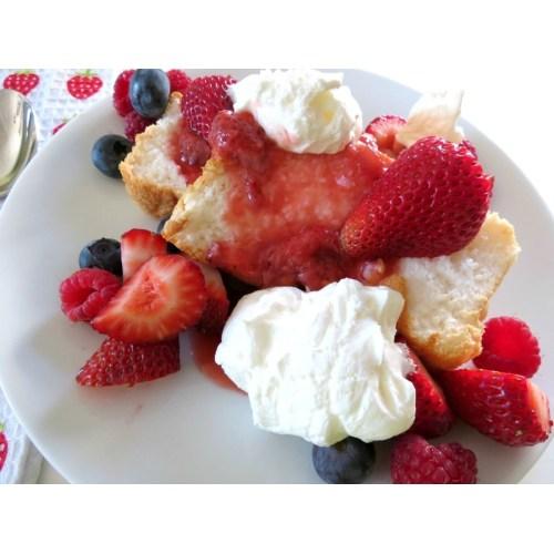 Medium Crop Of Angel Food Cake Toppings