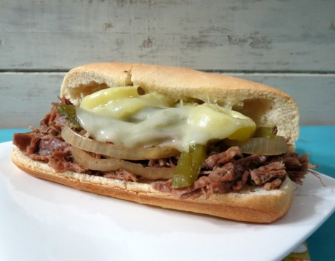Lightened Up Philly Cheese Steak (Crockpot)