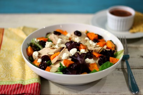Chicken and Sweet Potato Cherry Salad #GoTart