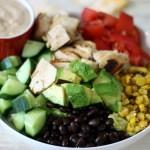 BBQ Chicken Salad w/ BBQ Ranch Dressing