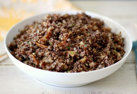 Bacon, Eggs and Chives Quinoa
