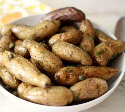Roasted Fingerlings with Capers and Dill