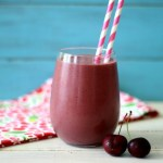Cherry Vanilla Protein Shake #SmoothieMonday