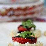 Sweet and Savory Strawberry and Cheese Snacks