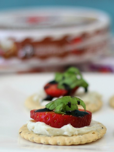 Sweet and Savory Strawberry and Cheese Snack