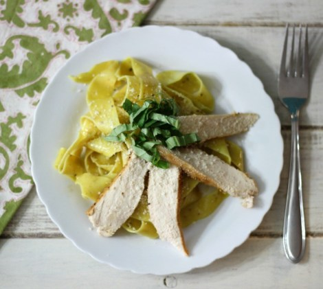 Pappardelle Pasta with Lemon Chicken