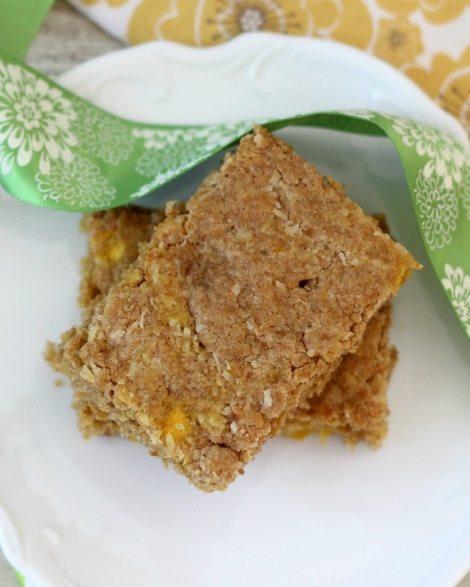 Whole Wheat Mango Coconut Bars  #SundaySupper