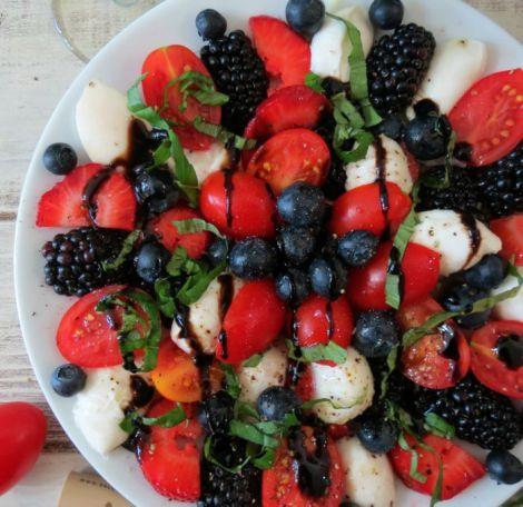 Caprese Fruit Salad #SundaySupper