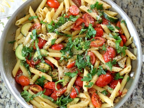 Tomato and Zucchini Penne Pasta