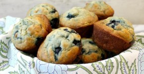 Skinny Blueberry Banana Muffins