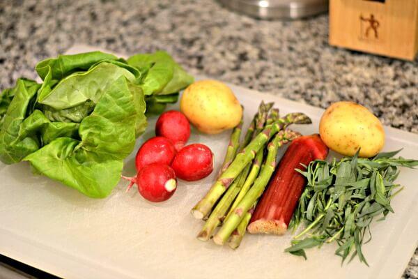 Blue Apron Salad Prep