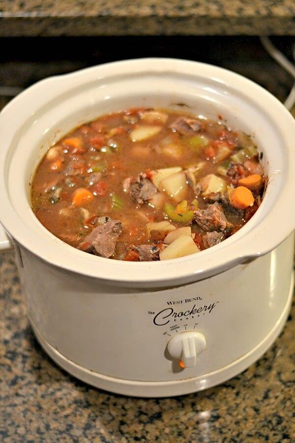 Whole30 compliant crockpot beef stew.