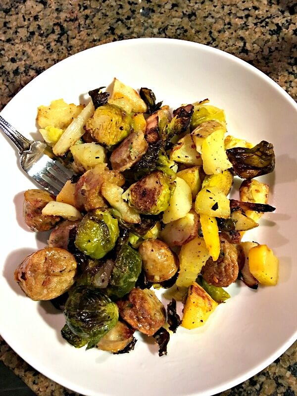 roasted pan dinner bowl