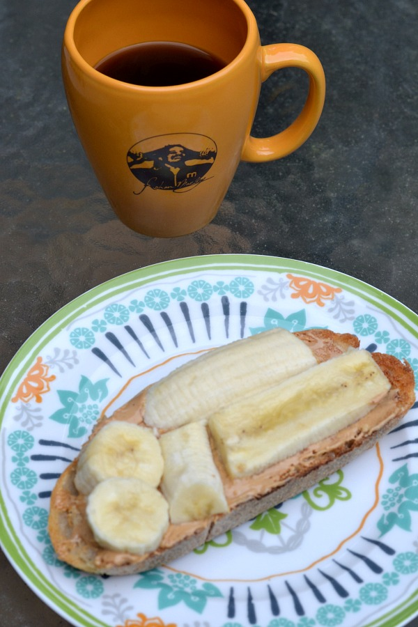 Cashew butter, honey and banana on sourdough
