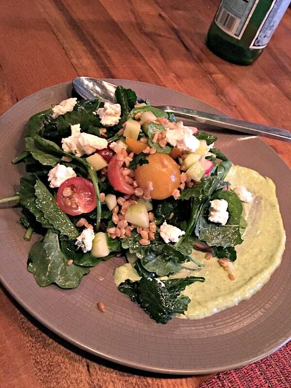 Kale and Spinach Salad at Wolfgang Puck Kitchen + Bar