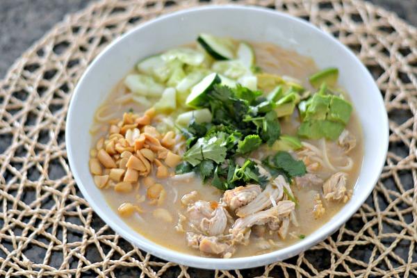 Coconut Lemongrass Chicken Noodle Bowls