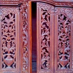 Sagwan Teak Wood Templemandir for Home Pearl Handicrafts