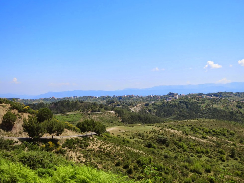 View of the Albanian countryside, taken near the town of Ishem