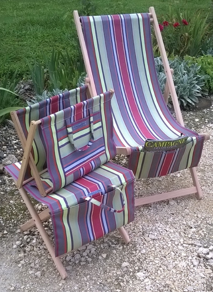 Deckchair and Footstool
