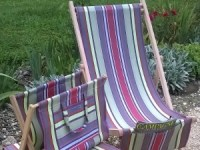 Deckchair, Footstool and Magazine Tidy