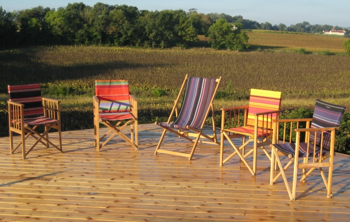 Red Cedar Deck and Chairs