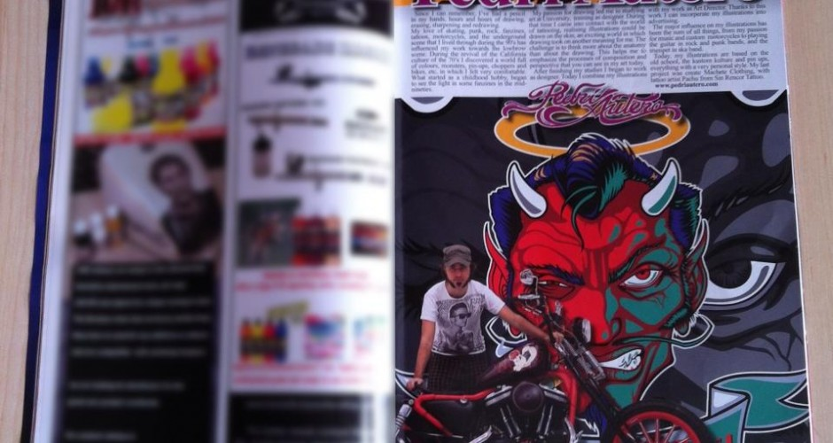 Reportaje en Pinstriping & Custom Graphics Magazine