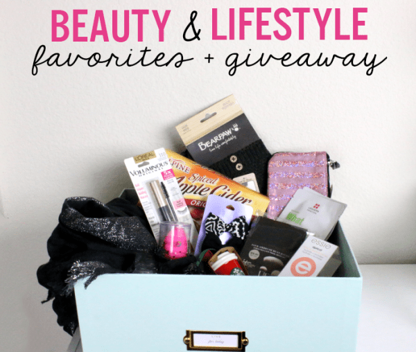 beauty and lifestyle favorites and giveaway