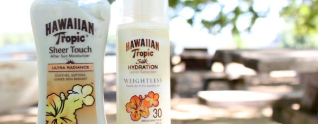 Hawaiian Tropic Sunscreen and After Sun Moisturizer