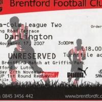 Brentford FC – Darlington FC