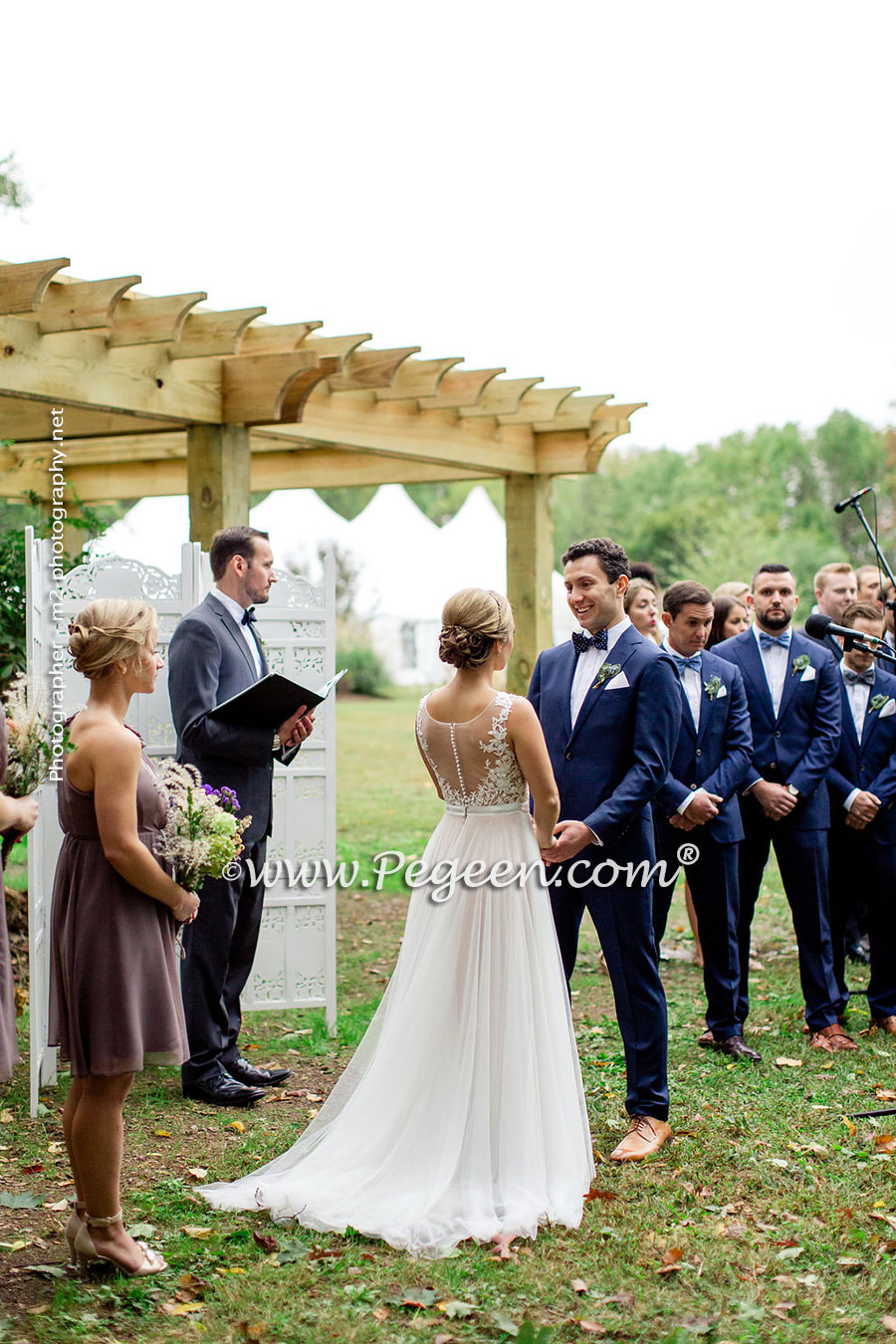 backyard wedding backyard wedding dresses Back Yard Wedding Flower Girl Dress of the Year in silk and tulle