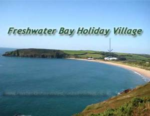 Freshwater Bay showing location of Freshwater Bay Holiday Village