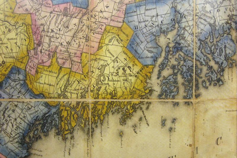 The Historical Atlas of Maine  book talk in Camden   PenBay Pilot Detail from Moses Greenleaf  Map of the State of Maine  1820  An ardent  champion of statehood  cartographer Moses Greenleaf produced the first map  of the