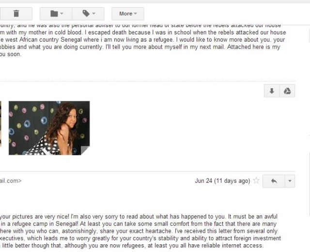 I can be pretty sure whoever is sending these emails doesn't read the responses.