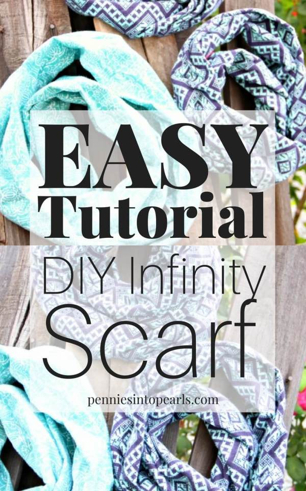Here is the easiest way how to make an infinity scarf in only 10 minutes! VIDEO Tutorial easily teaches you how to make your own $2 DIY infinity scarf with simple step-by-step VIDEO instructions. Perfect beginner sewing project!