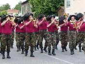une fanfare italienne animait aussi le défilé