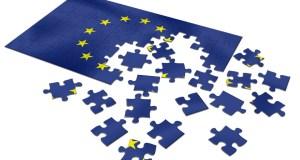 Unfinished European Union Flag puzzle