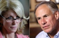 Attorney General Greg Abbott (right) will face the controversial State Senator Wendy Davis (left) in the Texas governor race.