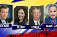 Fox News Sunday Panel on ISIS and NFL from Sept. 21, 2014. Chris Wallace hosts Brit Hume, Julie Pace, George Will, and Juan Williams.