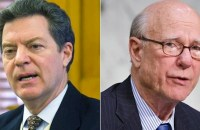 Republican Governor Sam Brownback (left) and Republican Senator Pat Roberts (right) are both battling for their political lives in races the GOP should have easily won. (Photos: AP)