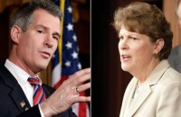 Incumbent Democrat Jeanne Shaheen (right) and her Republican challenger and former MA senator Scott Brown (left) will face off in the New Hampshire race this November. (Photo: AP)