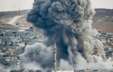 Smoke rises over Syrian town of Kobani after an airstrike, as seen from the Mursitpinar border crossing on the Turkish-Syrian border in the southeastern town of Suruc in Sanliurfa province, October. (Photo: Reuters/Kai Pfaffenbach)