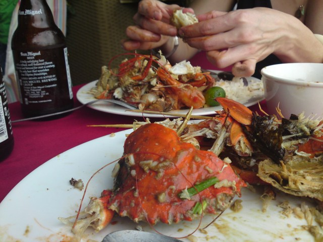 Crab Lunch in Davao City, Philippines